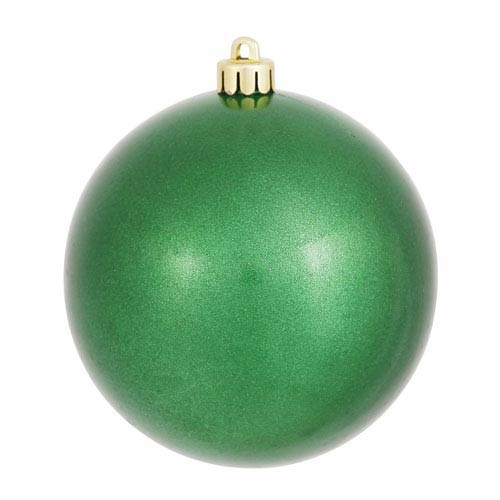 Green 6-Inch UV Candy Ball Ornament, Set of Four