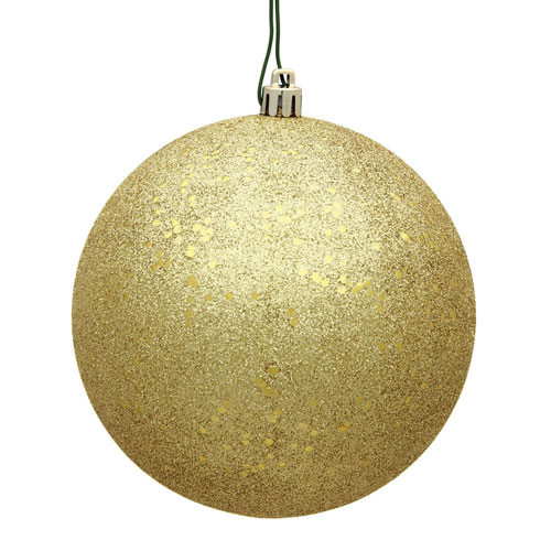 Gold Sequin Ball Ornament, Set of Four