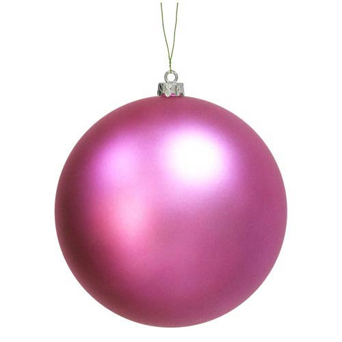 Orchid 6-Inch UV Matte Ball Ornament, Set of Four