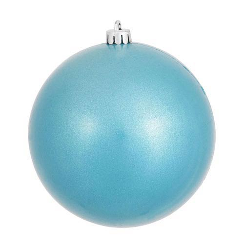 Vickerman Turquoise 6-Inch UV Candy Ball Ornament, Set of Four