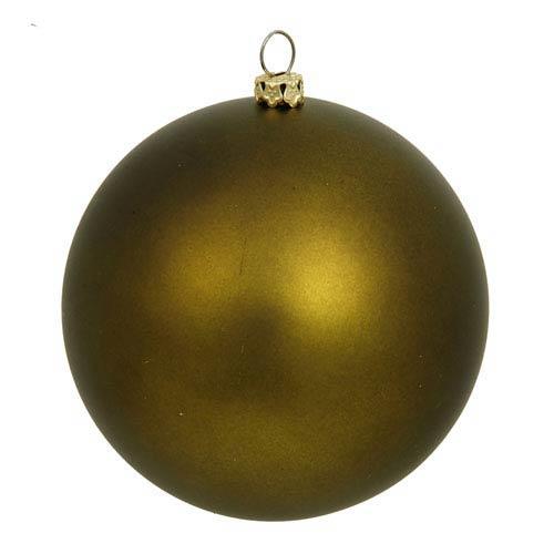 Vickerman Dark Olive Sequin Ball Ornament 150mm