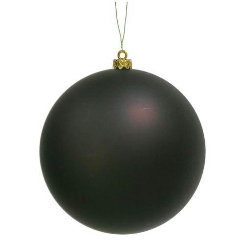 Chocolate 6-Inch UV Matte Ball Ornament, Set of Four