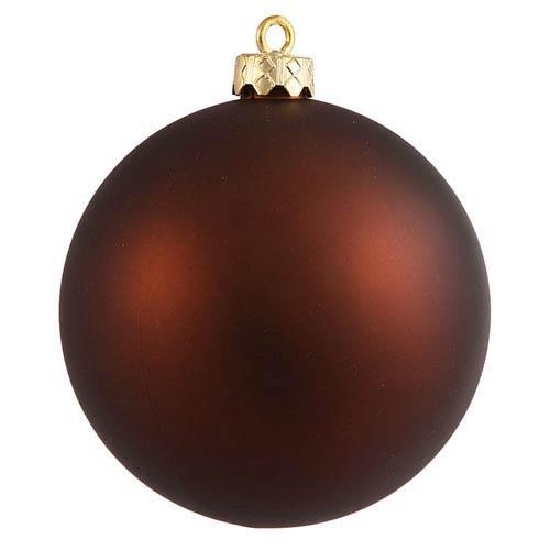 Mocha 6-Inch UV Matte Ball Ornament, Set of Four