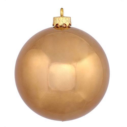 Mocha 6-Inch UV Shiny Ball Ornament, Set of Four