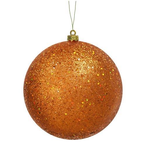 Vickerman Burnish Orange Sequin Ball Ornament 150mm