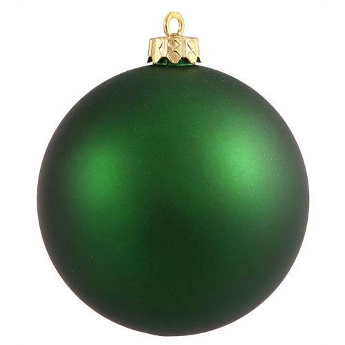 Emerald 6-Inch UV Matte Ball Ornament, Set of Four