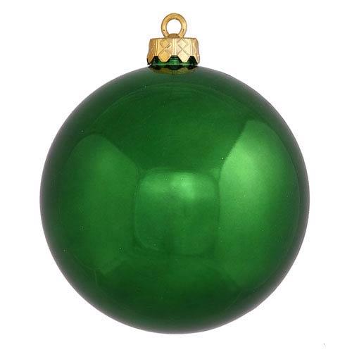 Emerald 6-Inch UV Shiny Ball Ornament, Set of Four