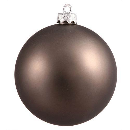 Pewter 6-Inch UV Matte Ball Ornament, Set of Four
