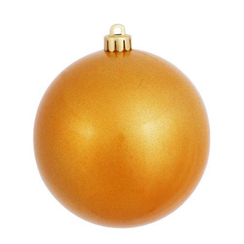 Antique Gold 6-Inch UV Candy Ball Ornament, Set of Four