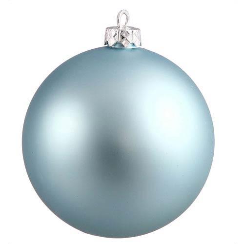 Vickerman Baby Blue Sequin Ball Ornament 150mm