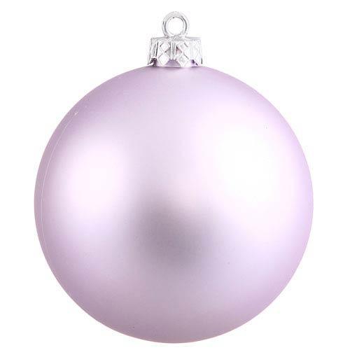 Lavender 6-Inch UV Matte Ball Ornament, Set of Four