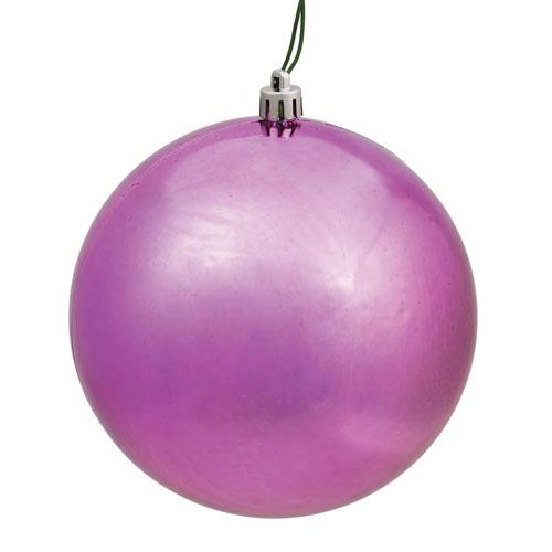 Mauve Shiny Ball Ornament, Set of Four