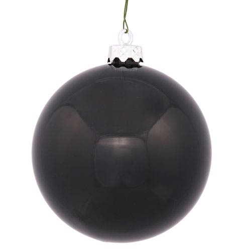 Black 8-Inch UV Shiny Ball Ornament