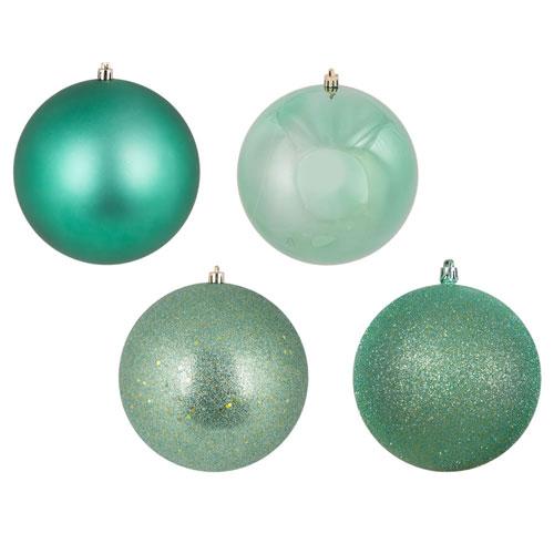 Seafoam Assorted Ball Ornaments, Set of Four