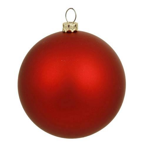 Red 10-Inch UV Matte Ball Ornament