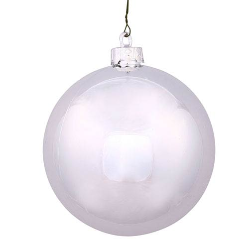 Silver 10-Inch UV Shiny Ball Ornament