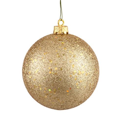 Gold 10-Inch Sequin Ball Ornament