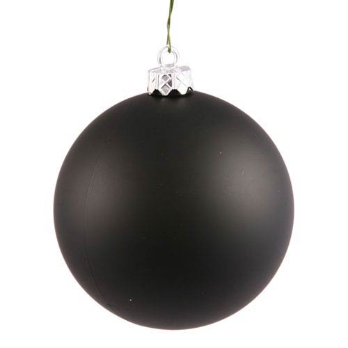Black 10-Inch UV Matte Ball Ornament