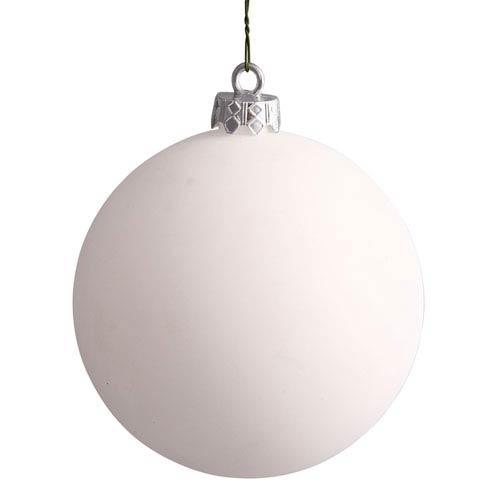 White 12-Inch UV Matte Ball Ornament