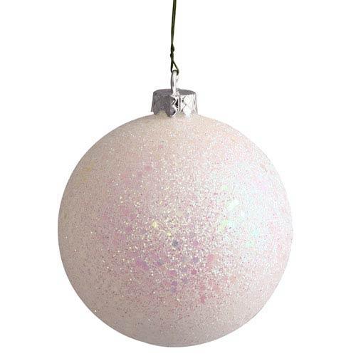 White 12-Inch Sequin Ball Ornament