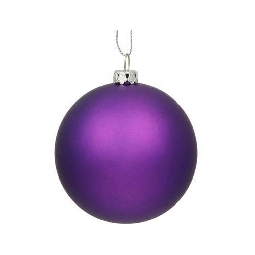 Purple 12-Inch UV Matte Ball Ornament