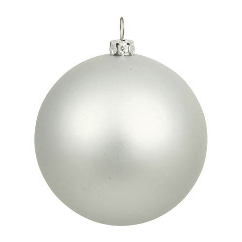 Silver 12-Inch UV Matte Ball Ornament