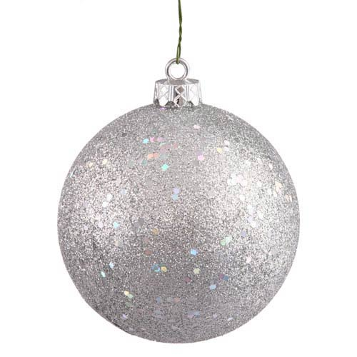 Silver 12-Inch Sequin Ball Ornament