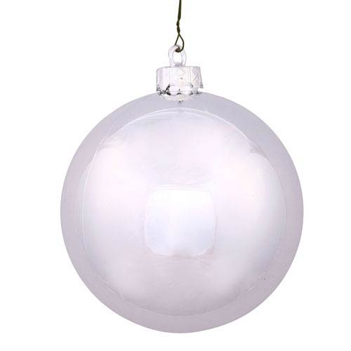 Silver 12-Inch UV Shiny Ball Ornament