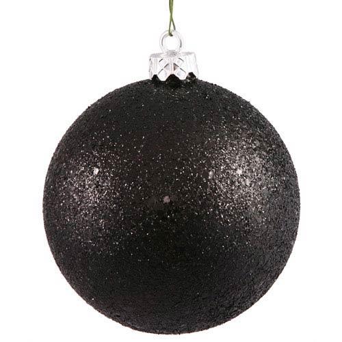 Black 12-Inch Sequin Ball Ornament