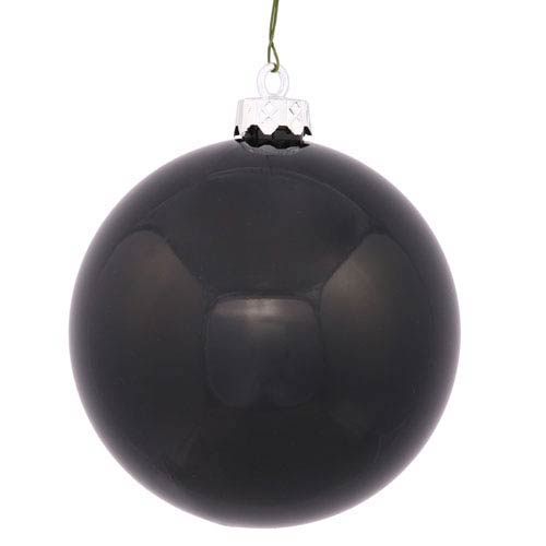 Black 12-Inch UV Shiny Ball Ornament