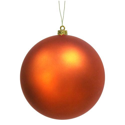 Burnish Orange 12-Inch UV Matte Ball Ornament