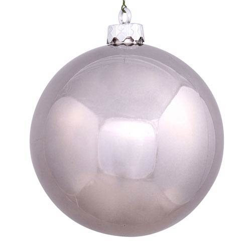 Pewter 12-Inch UV Shiny Ball Ornament