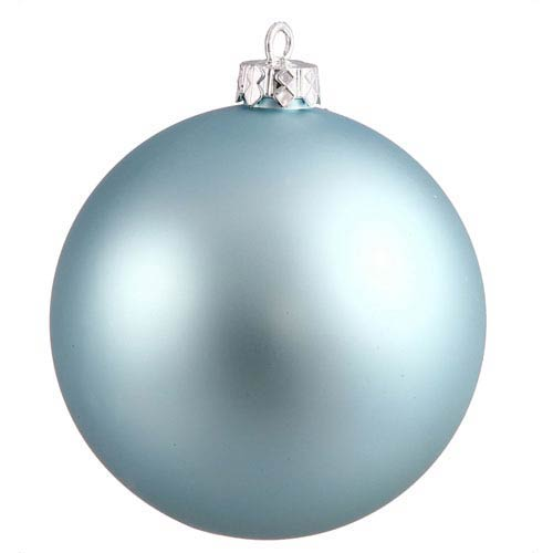 Baby Blue 12-Inch UV Matte Ball Ornament