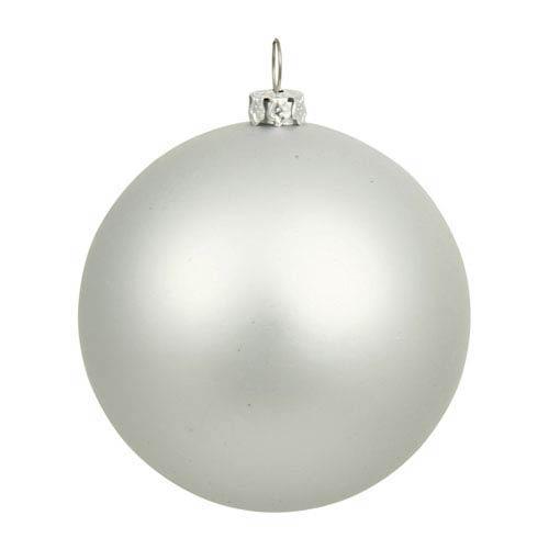Vickerman Silver 16-Inch UV Matte Ball Ornament