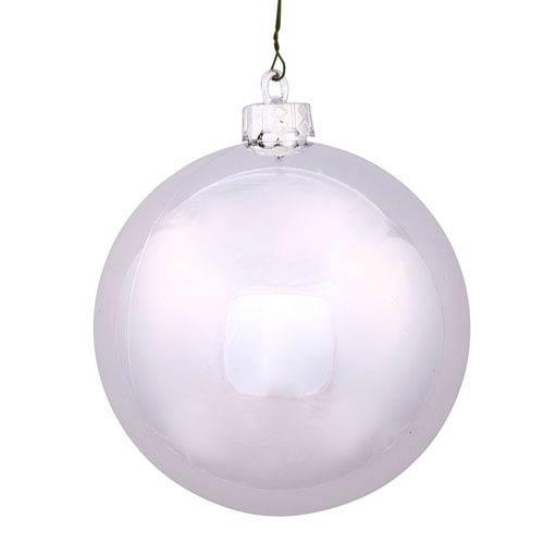 Silver 16-Inch UV Shiny Ball Ornament