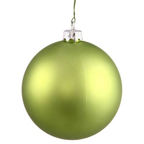 Lime 16-Inch UV Matte Ball Ornament