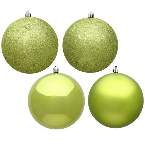 Vickerman Lime Assorted Ball Ornaments, Set of Ninety-Six