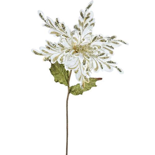 Cream Poinsettia Flower, Set of Three