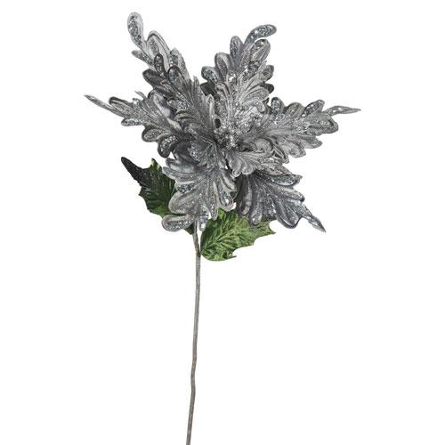 Pewter Poinsettia Flower, Set of Three