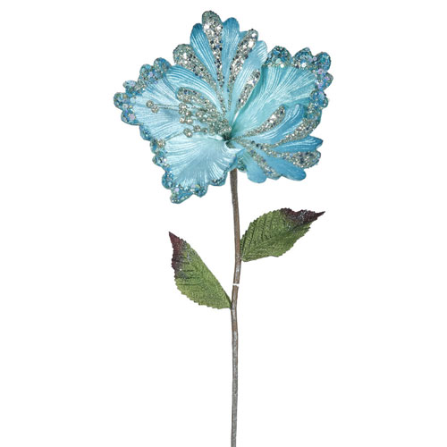 Sea Blue Hibiscus Flower, Set of Three