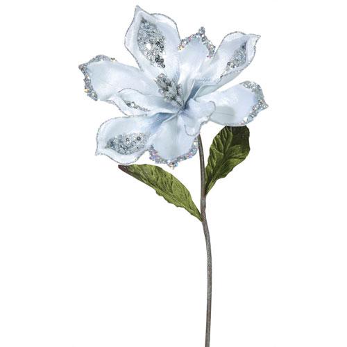 Vickerman Silver Magnolia Flower, Set of Three