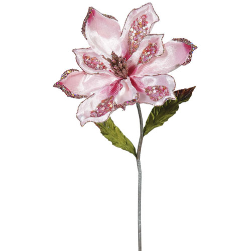 Pink Magnolia Flower, Set of Three