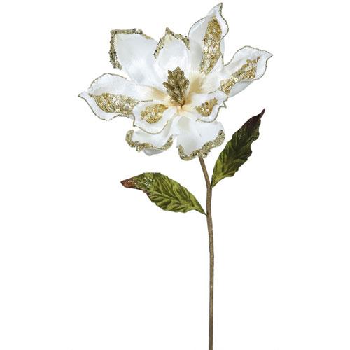 Cream Magnolia Flower, Set of Three