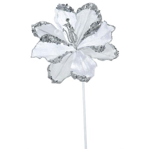 White Amaryllis Flower, Set of Three