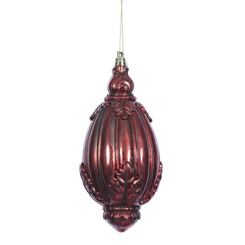 Antique Red Sculptured Drop, Set of Four