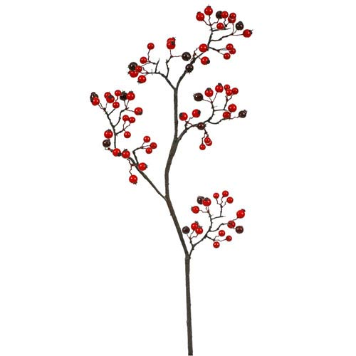 Red and Burgundy Mix Berry Spray 22-inch