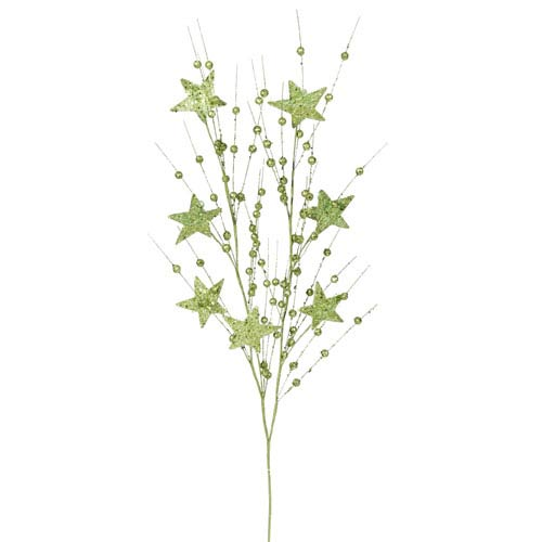 Vickerman Light Green Sparkle Berry Spray 34-inch
