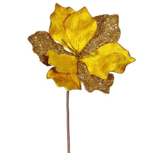 Vickerman Gold Sparkle Amaryllis Spray 16-inch