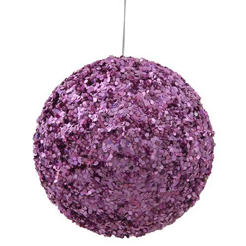 Dark Mauve 5-Inch Sparkle Sequin Kissing Ball Ornament