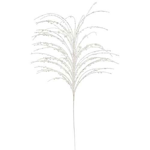 Vickerman White 28-Inch Glitter Berry Spray